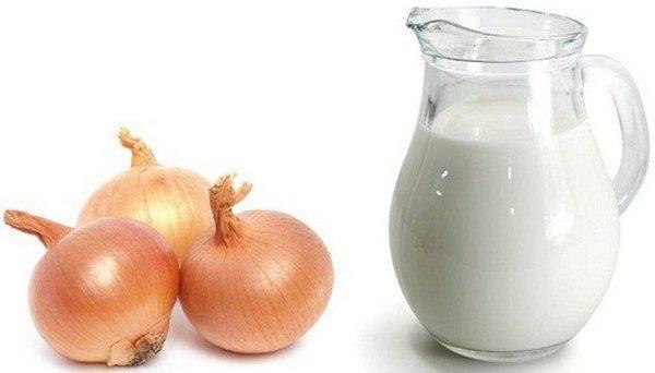 Молоко и лук