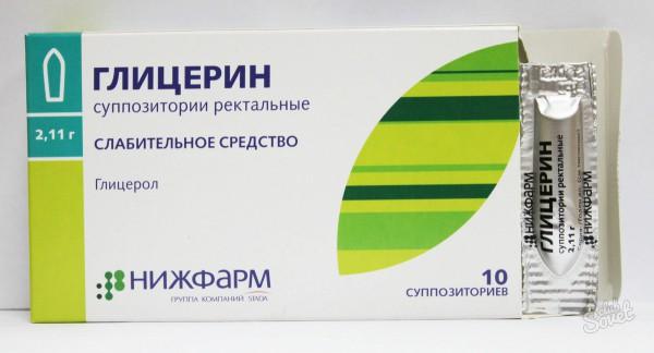 Применение глицериновых свечей при геморрое